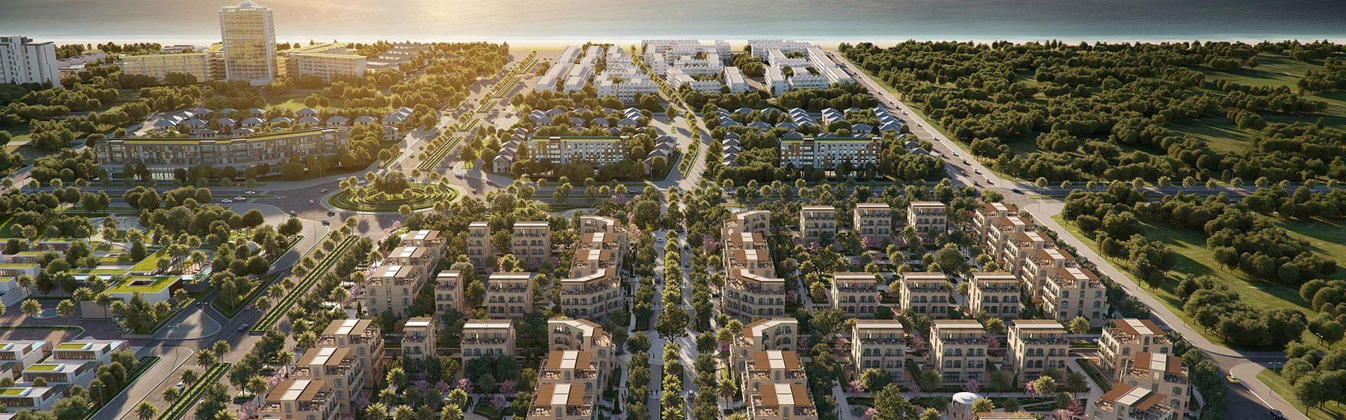 Palm Garden Shop Villas Phu Quoc phoi canh tong the