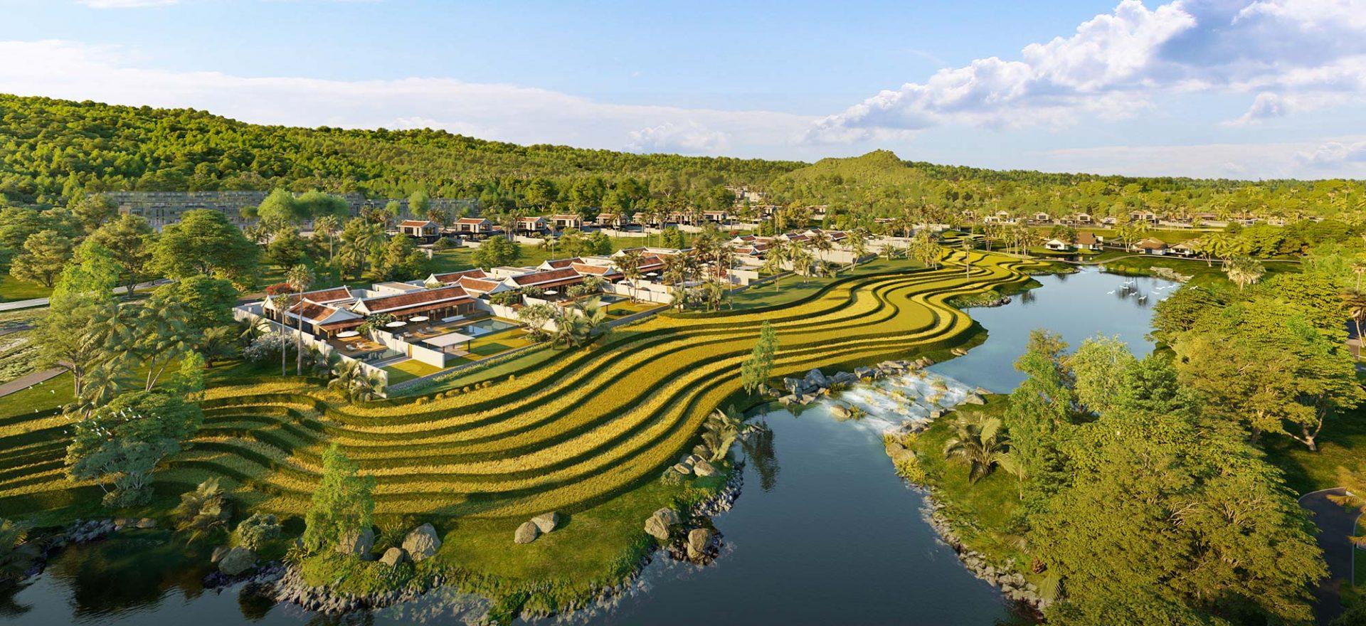 Park Hyatt Phu Quoc phoi canh Lake Villas