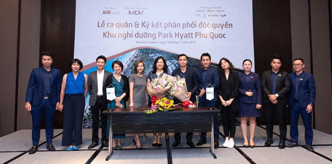 Đại diện BIM Land, MGV và MSL Group chụp ảnh lưu niệm lễ ký kết