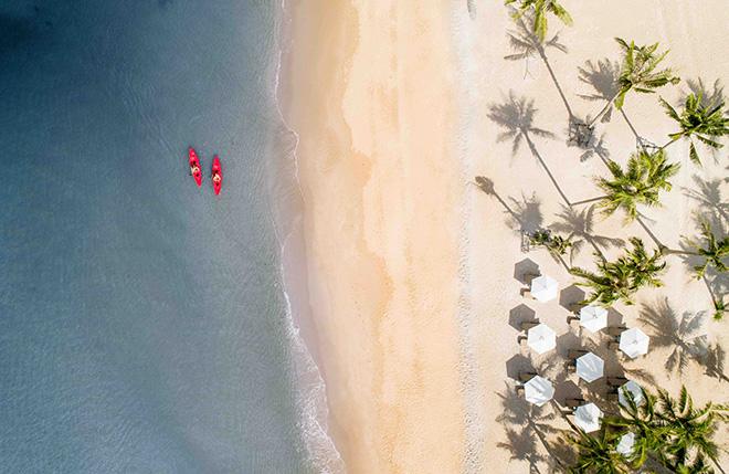 Bãi biển tuyệt đẹp tại InterContinental Phu Quoc Long Beach Resort