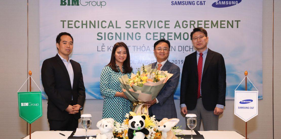 Bim Group kí kết với Samsung