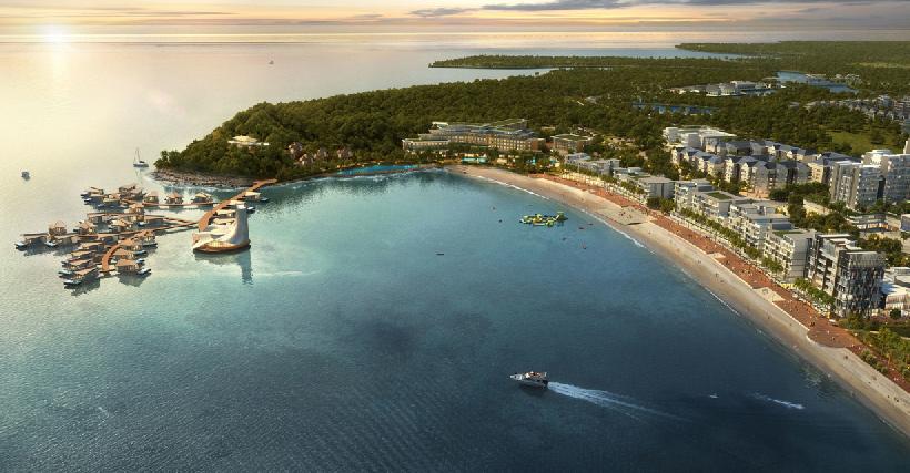 """Một trong những đại diện tiêu biểu của WATG là """"Nuvasa Bay Master Plan"""" – Batam, Indonesia"""