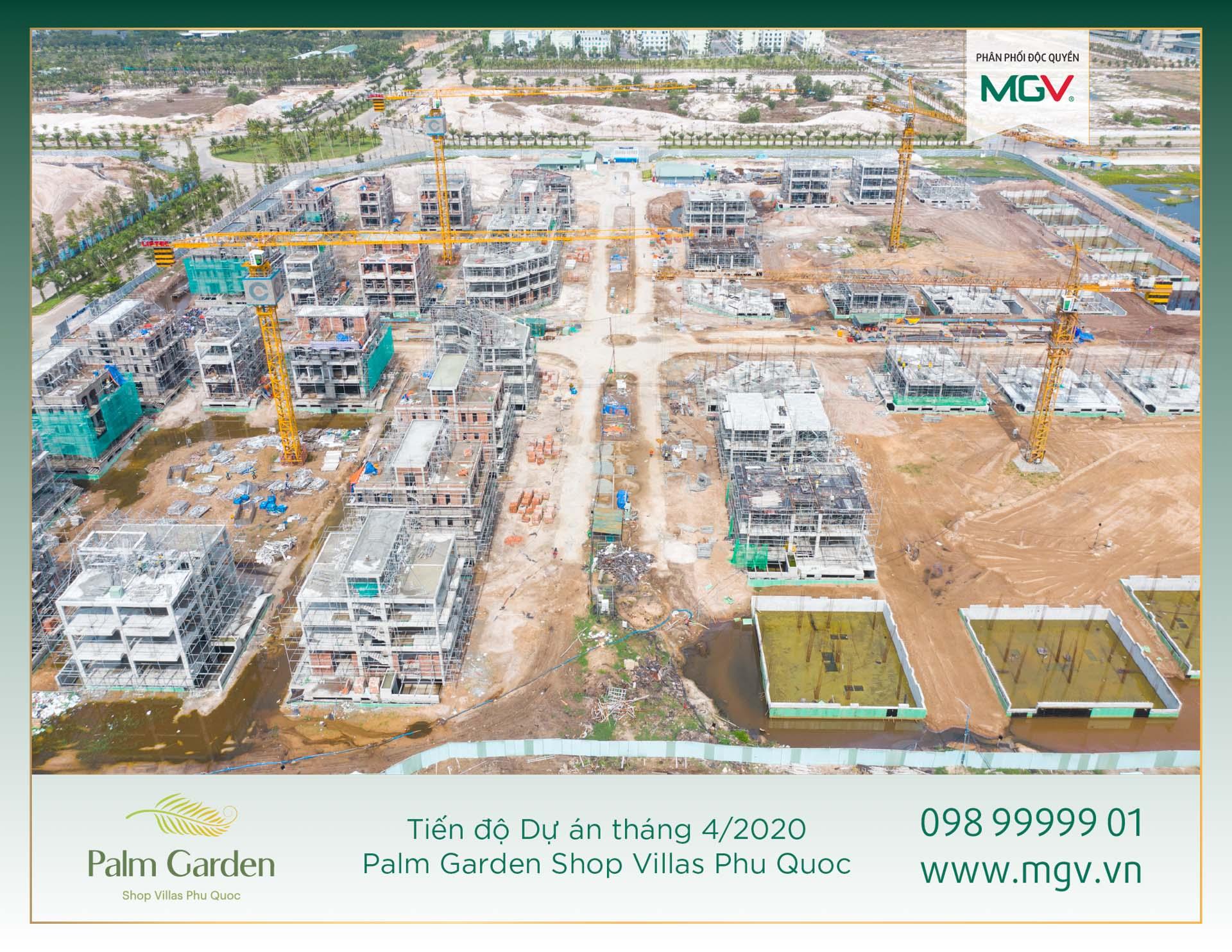 6.Tiến độ Dự án Palm Garden tháng 4.2020
