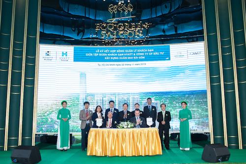 Lễ ký kết hợp tác giữa Xuân Mai Sài Gòn và Tập đoàn khách sạn Hyatt Hotels