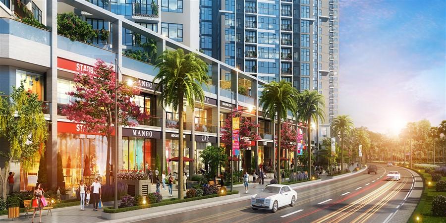 Hình ảnh tổng quan Shophouse dự án Eco Green Sài Gòn