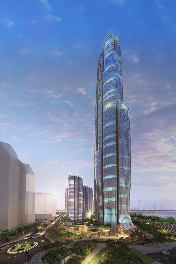 Phối cảnh tòa khách sạn Hyatt cao 69 tầng tại Eco Green Saigon