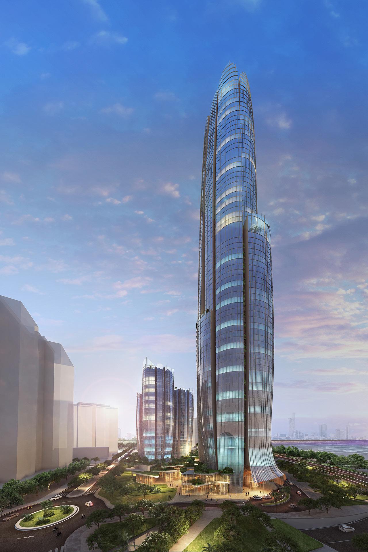Phối cảnh khách sạn Hyatt Place & Hyatt House thuộc dự án Eco Green Sài Gòn.