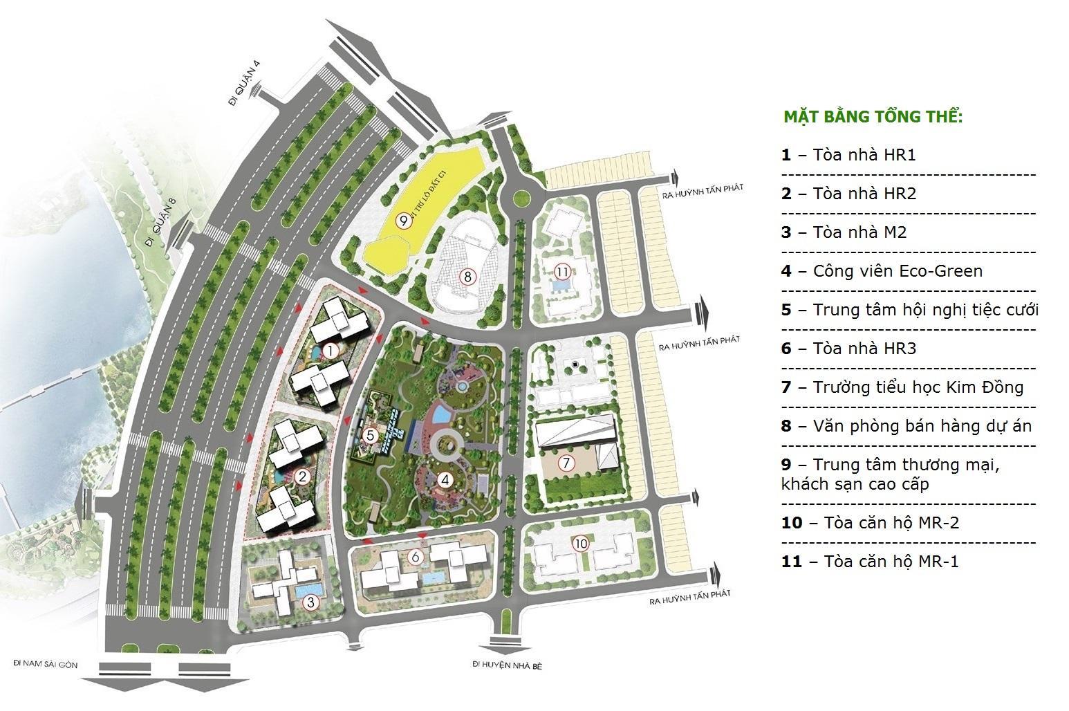 Mặt bằng dự án Eco Green Sài Gòn