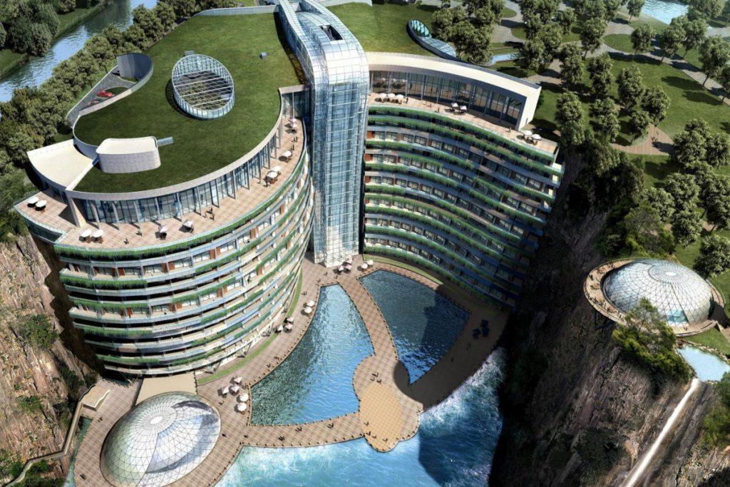 InterContinental Shanghai Wonderland aerial