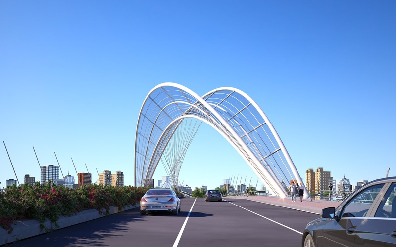 Phương án dự thi tuyển chọn - Phương án thiết kế kiến trúc công trình cầu Thủ Thiêm 4 - 1