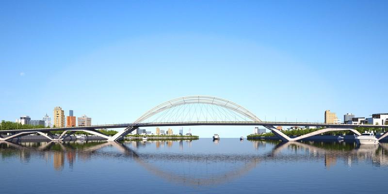 Phương án dự thi tuyển chọn - Phương án thiết kế kiến trúc công trình cầu Thủ Thiêm 4 - 2