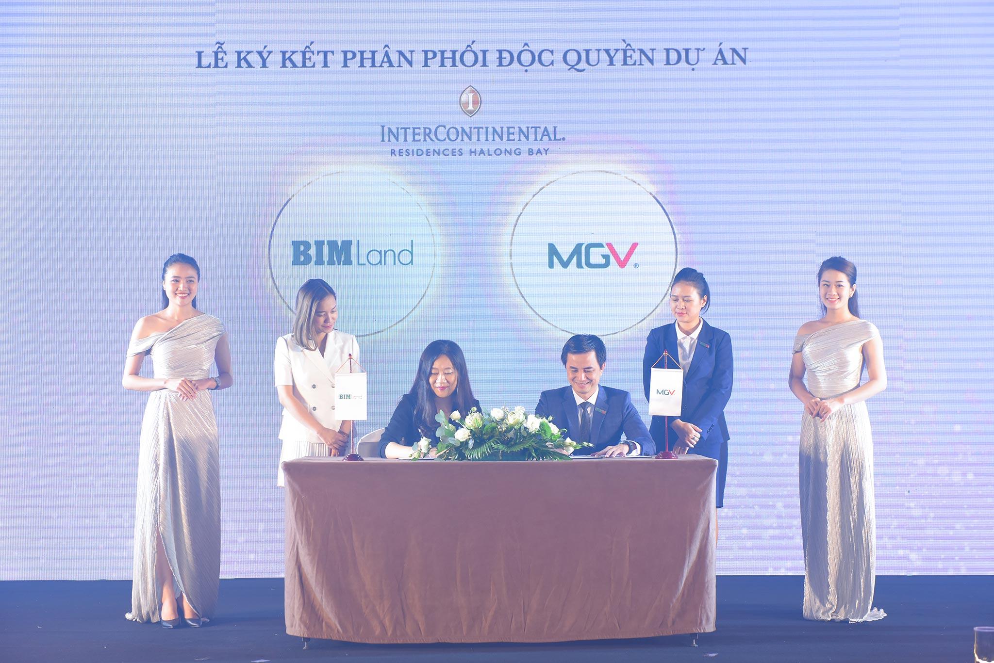 Đại diện BIM Group và MGV ký kết Phân phối độc quyền dự án
