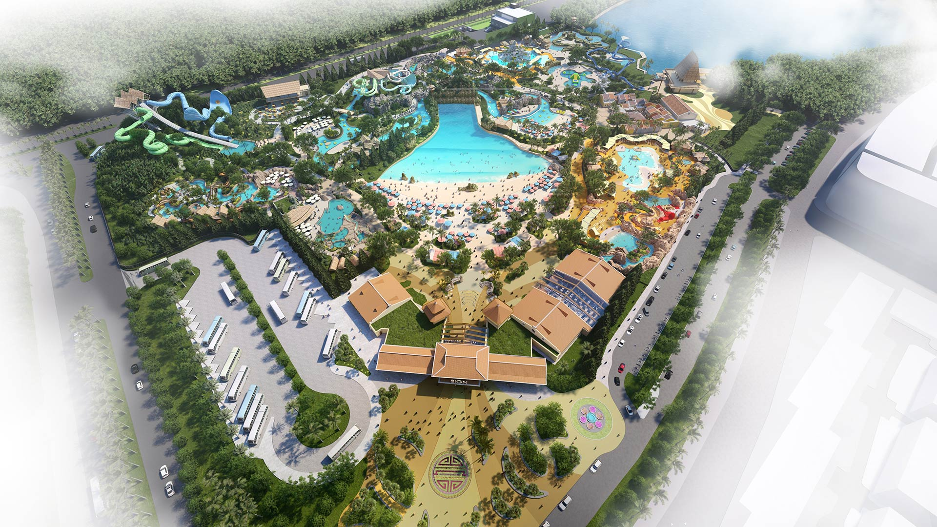 Phu Quoc Marina Waterpark - Phoi canh cong vien nuoc