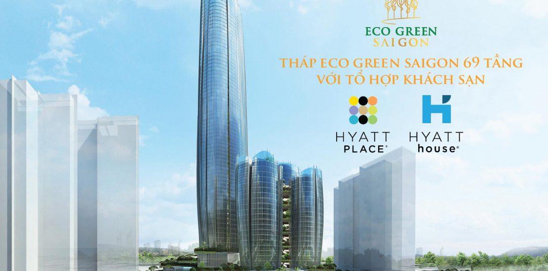 Tháp Eco Green với tổ hợp khách sạn Hyatt Place - Hyatt House