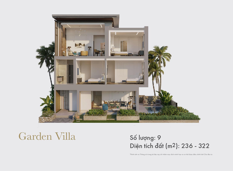 Mặt cắt Garden Villa