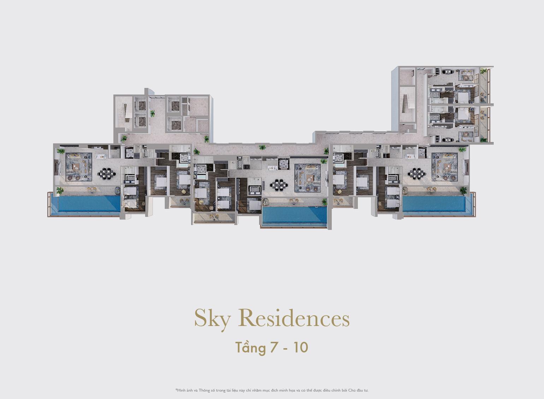Sky Residences - Mẫu tổng thể tầng 7 đến tầng 10