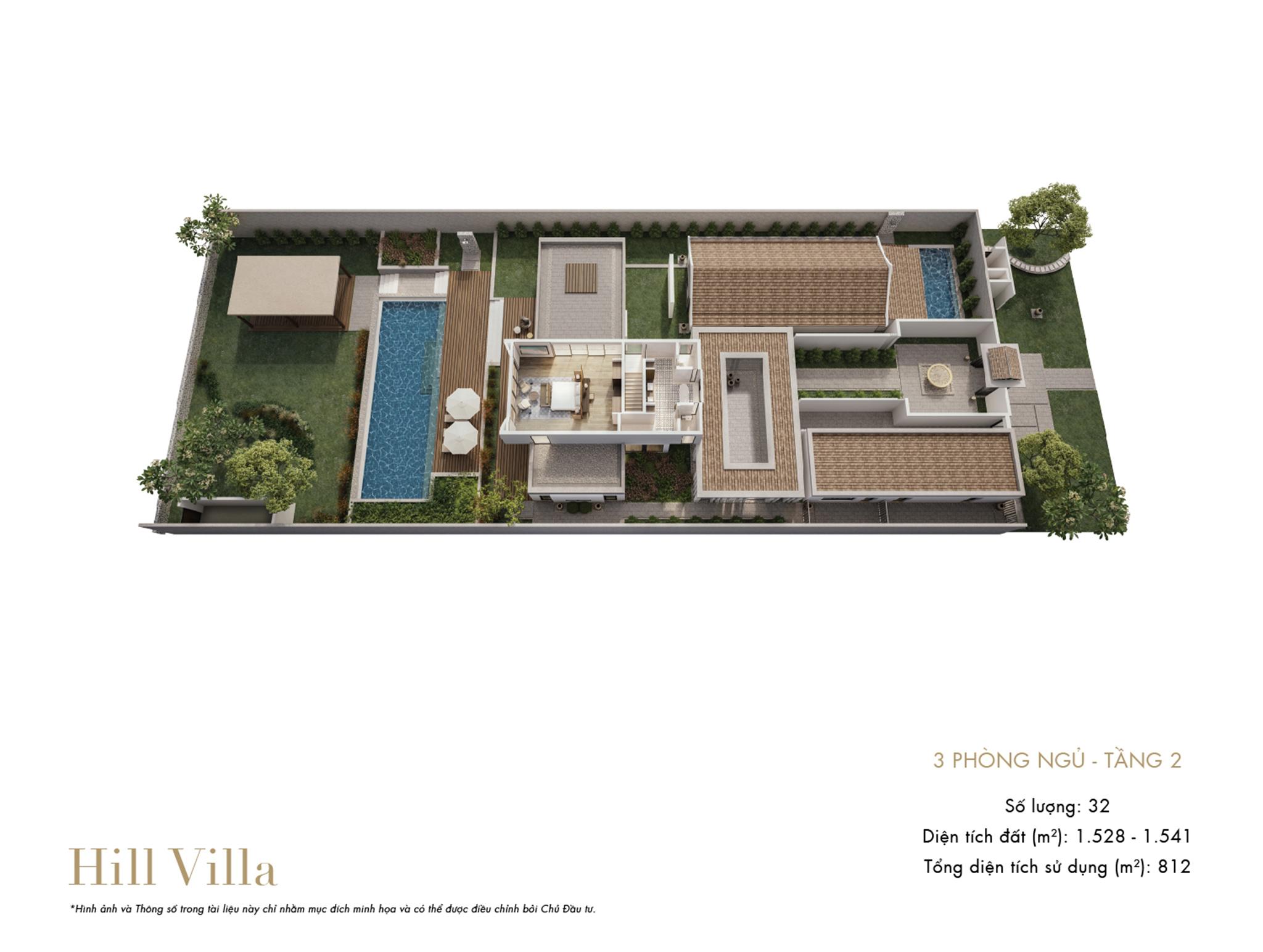 Park Hyatt Phu Quoc - mặt bằng Hill Villa 3PN tầng 1(1)