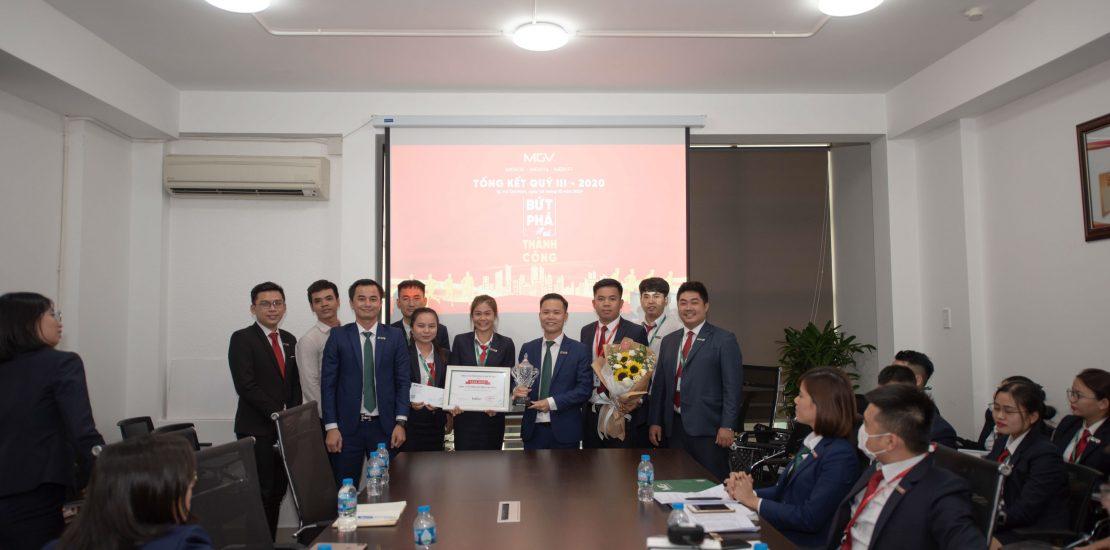 Tổng kết Quý 3-2020 - Tập thể MGV.S với giải thưởng Công ty thành viên xuất sắc nhất Quý 3